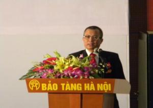 Ông Nguyễn Ngọc Bình - Chủ tịch HĐQT cảm ơn tới Lãnh đạo Đảng, Nhà nước và các vị khách quý.